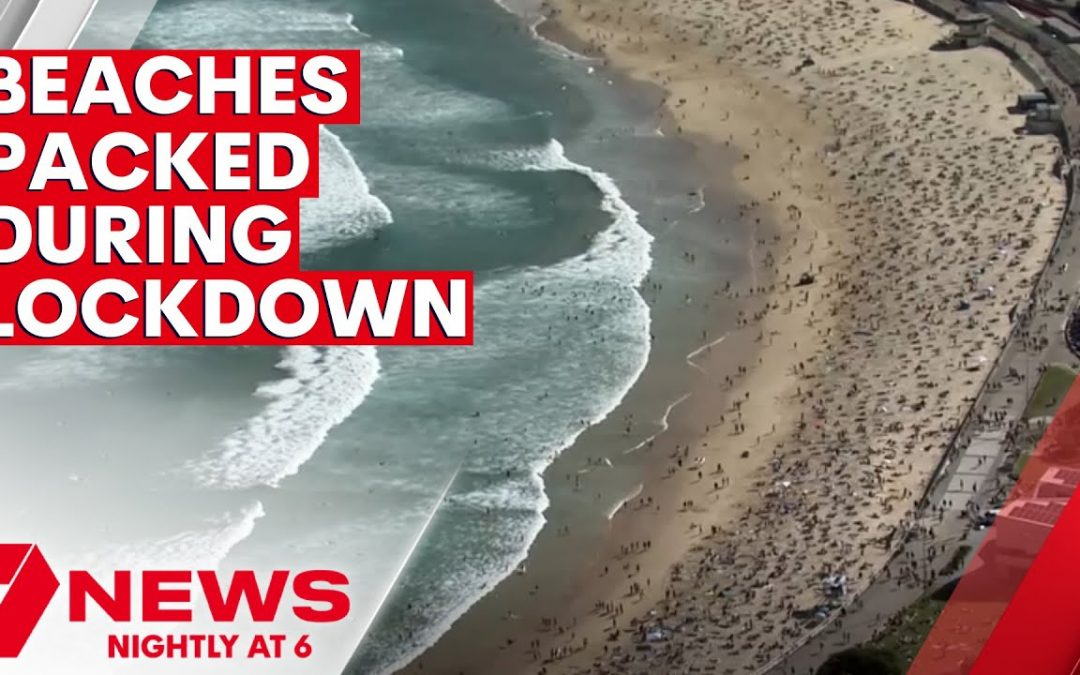 Packed beaches during Sydney's COVID pandemic lockdown   7NEWS