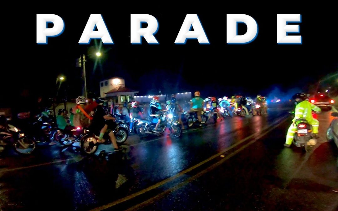 HUGE MOTORCYCLE PARADE   Costa Rica Celebrates Independence Day [AMBIENT] [2021]