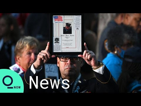 9/11 Mourners Attend The 20th Anniversary Ceremony in New York City