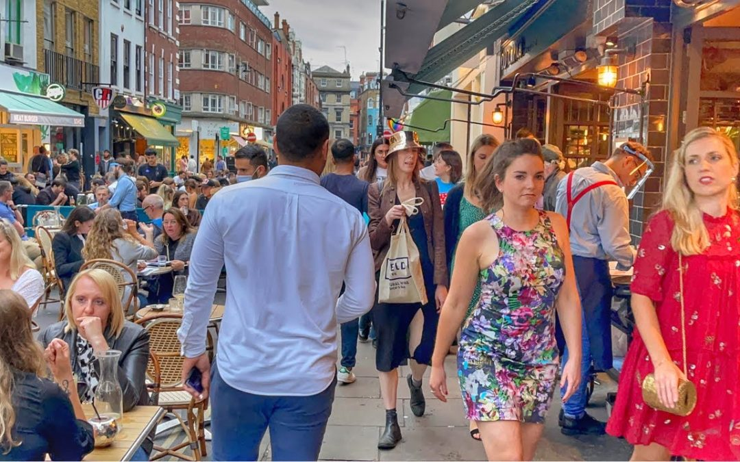 Walking the Streets of London | Busy Evening in Central | London West End Walk Sep – 2021 [4k HDR]