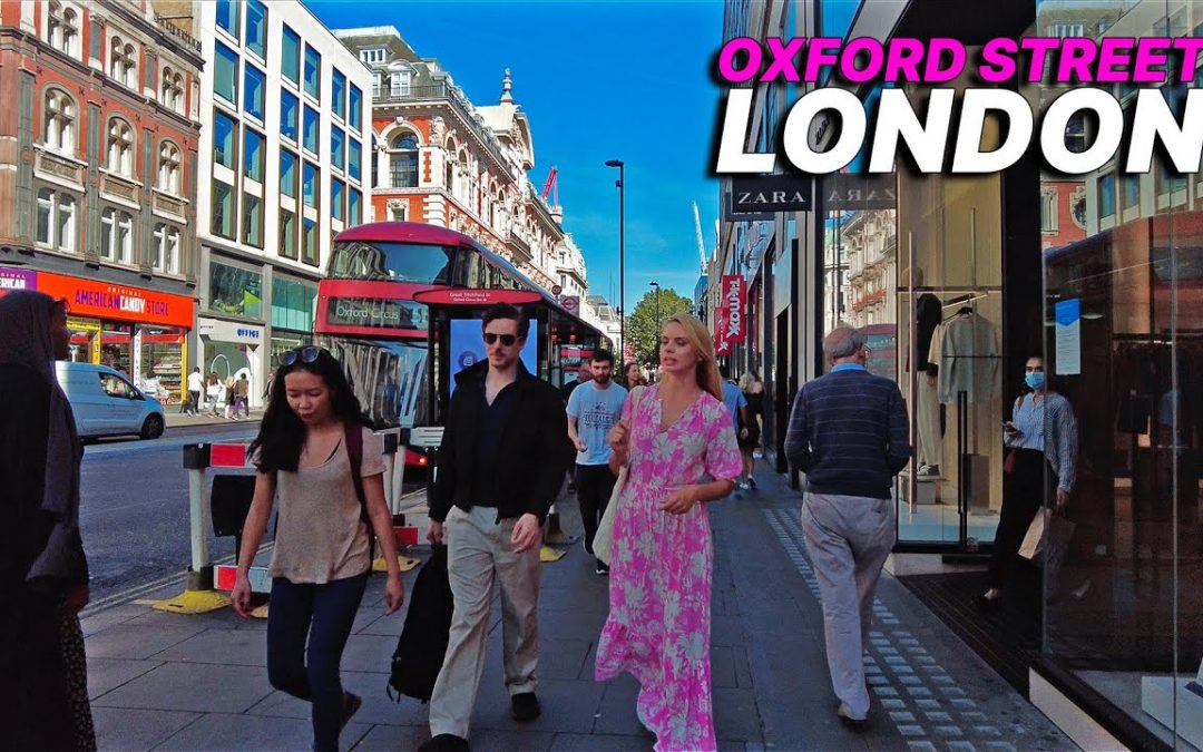 Walking London's Oxford Street during the last heatwave of 2021 ☀️ WORLD FAMOUS SHOPPING STREET 🛍