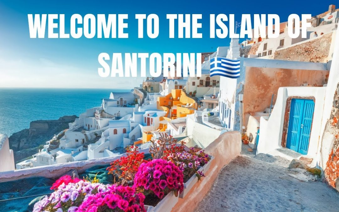SANTORINI 🇬🇷 Welcome to one of the world's most exciting vacation destinations. #vacay #explore ✈