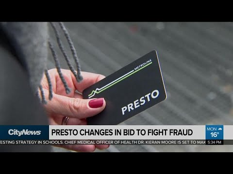 Changes to Presto card system in effort to fight fraud