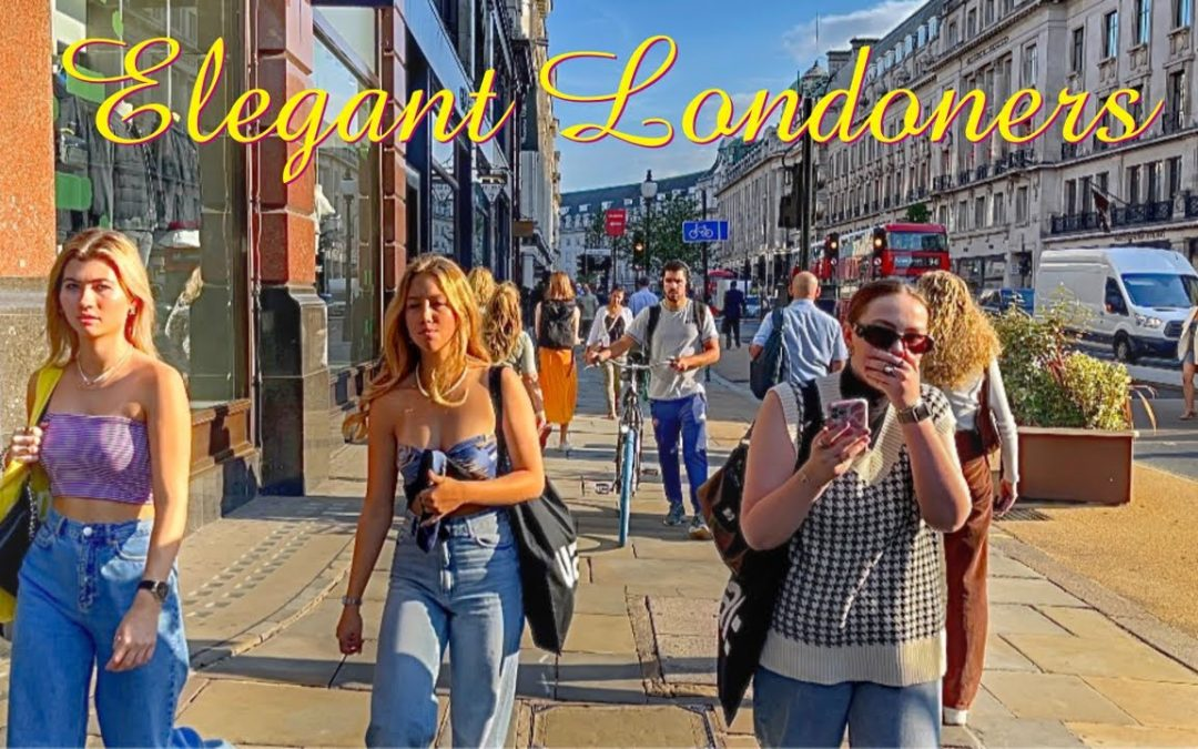 LONDON HDR 4K   Walking the Streets of Central London  London West End Walk 2021
