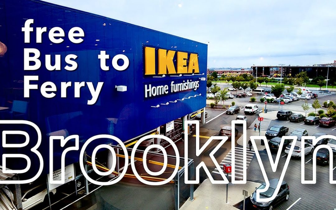 Brooklyn, New York【IKEA in Red Hook | going by Free Bus & Ferry】2021 Walking Tour, Travel Guide【4K】
